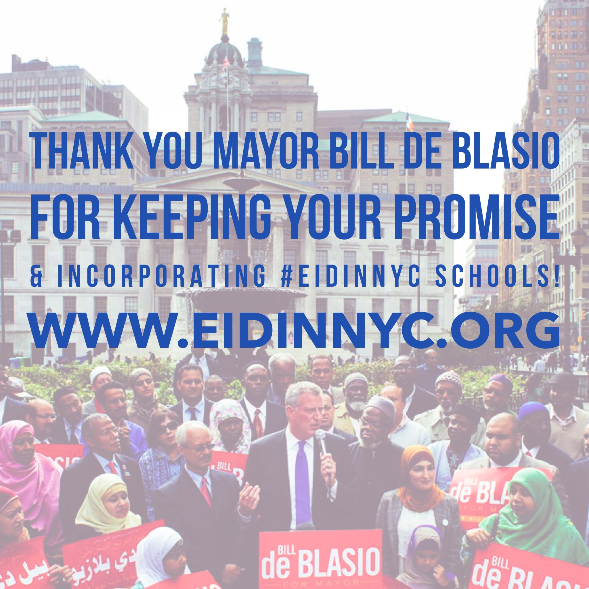 Thank you Mayor De Blasio